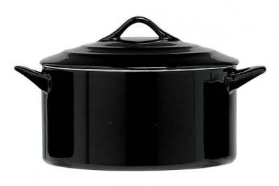 Ovenschotel Black - rond met deksel ?170mm