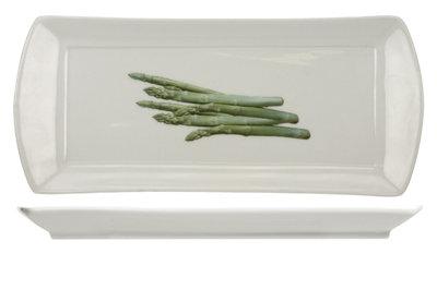 Asperge schotel - bord 12,5 x 29,5 cm