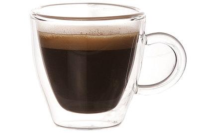 Espresso mok dubbelwandig glas 6 cl 6x6cm