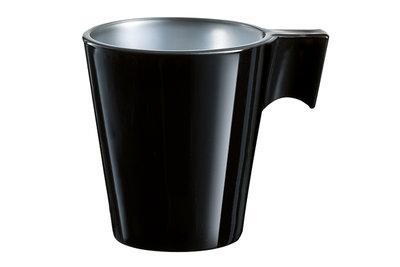 Espresso kopje 8 cl Flashy zwart