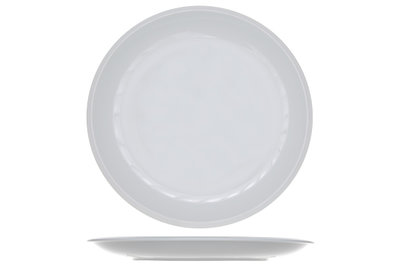 Rond plat bord 30,5 cm Pleasure White