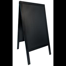 Stoep krijtbord 120 x 70 cm zwart