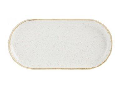Bord ovaal smal 30 cm Oatmeal