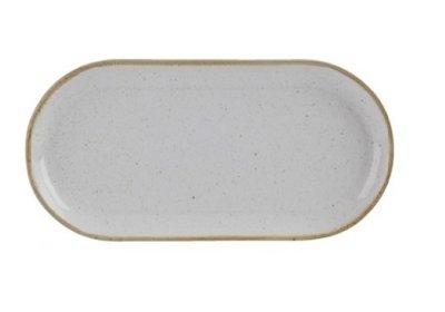 Bord ovaal smal 30 cm Stone