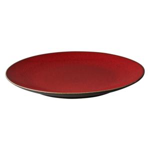 Bord 27 cm rood/bruin Lava Palmer