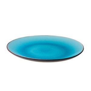 Bord 26 cm turquois/mat zwart Asia Palmer