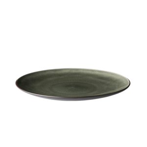 Bord 21 cm bruin/mat zwart Asia Palmer