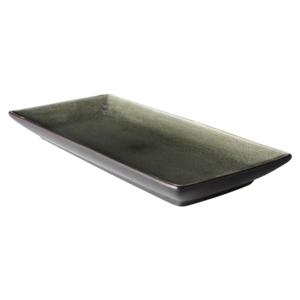 Bord 30x14 cm rechthoekig bruin/mat zwart Asia Palmer