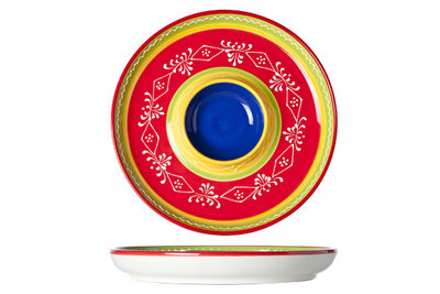 Chip and Dip bord Sombrero Red