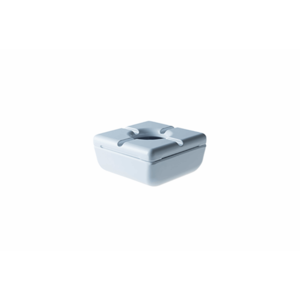 Asbak vierkant wit melamine 11,5 cm
