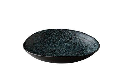 Bord diep 24 cm Q Raw Chameleon Zwart-blauw