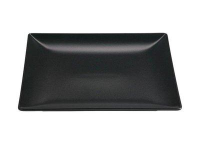 Vierkant bord 24 cm mat zwart