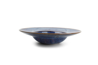 Bord diep met brede rand 27,5 cm Nova blauw