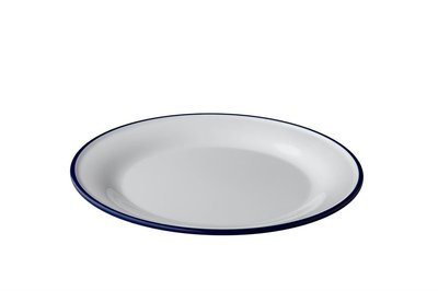 Bord 27 cm melamine emaille look