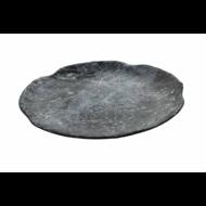 Bord 25,5 cm Endure Melamine zwart-marmer